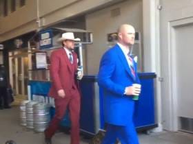 The Cubs Dressed Up In Anchorman Outfits For Their Road Trip To LA And San Diego