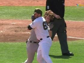 Bryce Harper Charges The Mound, Smashes Hunter Strickland In The Face