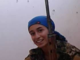 Video Of ISIS Nearly Shooting Woman Soldier's Face Off. She Smiles After Shooting Her Own Target