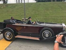 Antonio Brown Showed Up To Steelers Camp In A 1931 Rolls Royce Phantom Driven By A Chauffeur