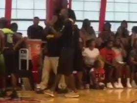 Lebron James Storms Onto the Court During His Kid's AAU Game To Dispute the Score