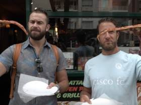 Barstool Pizza Review - Manhattan Brick Oven Pizza With Special Guest Evan Longoria