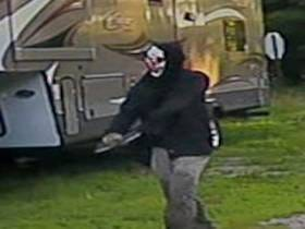 One-Armed Drunk Man Gets Arrested For Innocently Walking Around With A Clown Mask On And A Machete Taped Where His Arm Used To Be