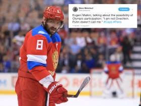 Evgeni Malkin Confirms What We've All Known For A While. Alex Ovechkin Is A Russian Spy