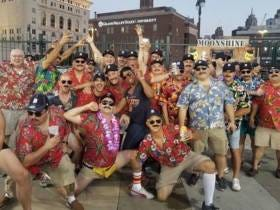 In A Top Headline Contender Of 2017...45 Dudes Dressed As Magnum P.I. For A Bachelor Party Thrown Out Of Detroit Tigers Game For