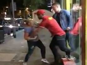 This Woman Fighting Two Fast Food Workers In Order To Get Into A Closed Restaurant And Buy Some Late Night Food Is Inspiring