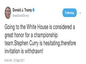 Trump Withdrew His White House Invitation To The Warriors, Followed By LeBron Calling Trump A Bum On Twitter