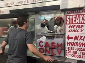 The Eagles Are Extremely Undefeated When Mark Zuckerberg Is In Philly Getting Cheesesteaks