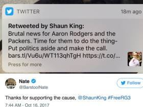 I'm At War With Shaun King After He Blocked Me After RT'ing My Kaepernik Blog