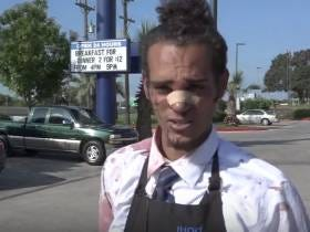 Worst Luck Ever...Dude Tries To Rob An IHOP, Third-Degree Black Belt Waiter Whoops His Ass