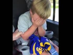 World's Biggest Todd Gurley Fan Breaks Down In Tears After Learning He's Going To The Game