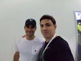 Fake Federer (AKA ME) Got To Ask Real Federer A Question At His Rolex Masters Press Conference #ShadesOffForRog