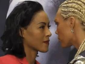 Boxer Leans In And Kisses Her Opponent On The Lips During Press Conference