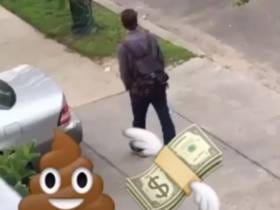 Most Obnoxious Dudes In The World Cover Dollar Bills In Shit Just To Laugh When People Pick Them Up