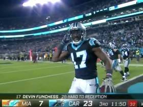 Panthers Receiver Devin Funchess Promised a Fallen Soldier's Mom He'd Catch a Touchdown Last Night and Give Her The Ball, He Did Just That