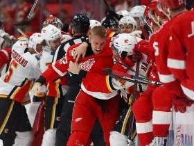 Make Hockey Violent Again: We Had A Good Old Fashion Donnybrook Between The Flames And Red Wings Last Night