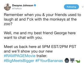Did You And Your Friends Fuck With Monkeys At The Zoo? The Rock Thinks So