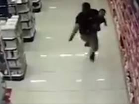 Guy Takes Down Robbery Suspect Holding His Infant Son In One Hand And A Loaded Pistol In The Other