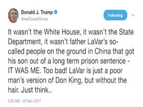 Donald Trump Started His Thanksgiving Eve Nice And Early By Taking Shots At LaVar Ball On Twitter