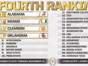 Taking A Look At Week 13's College Football Playoff Rankings
