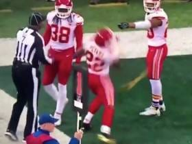 Alex Mack Gets Duffed By A Flag; Marcus Peters Throws A Flag To The Moon