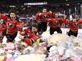 The Teddy Bears In Calgary Were Raining Down From The Heavens To The Amount Of 24,605 Teddy Bears For Charity