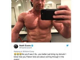 Just A Reminder, Heath Evans Is A Dude That Squashes Twitter Haters Online By Posting Shirtless Selfies At The Gym