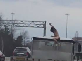 Driver Crashes, Punches Dump Truck Driver, And Then Gets Naked On The Highway