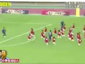 Three Professional Soccer Players Playing Against 100 Little Kids Is Mesmerizing