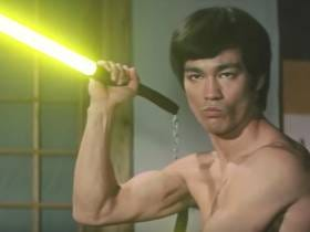 How Do You Make A Bruce Lee Fight Sequence Even Better? Add Lightsabers.