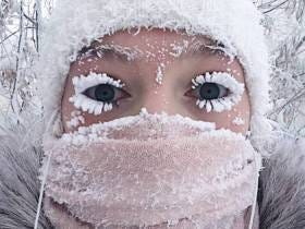 It's So Cold In Russia Right Now That People's Eye Lashes Are Freezing Off Their Faces