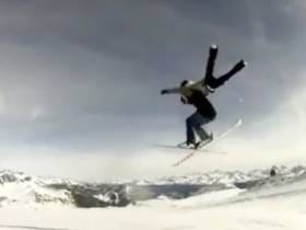 Video Of A Couple Of Bros Pulling Off A Wildly Impressive(and rare) Tandem Ski Jump
