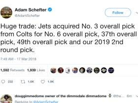 Jets Trade Up To The 3rd Pick