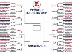 Barstool Brackets - Greatest Secondary TV Characters Sweet Sixteen...Elite 8 Voting Now Open