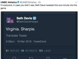 UMBC Might Never Let Seth Davis Live Down His