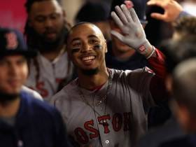 Mookie Betts Crushes Three Of The Six Homers Hit By The Red Sox, As Shohei Ohtani Hits The Showers After Two Innings