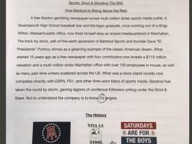 Some Kid Wrote A 21 Page Final Paper On Barstool Sports.
