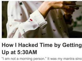Millennial Blogger Invents Waking Up Early