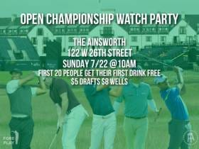 ANNOUNCEMENT: NYC Barstool British Open Watch Party Sunday 10am At The Ainsworth In Chelsea (with drink deals)