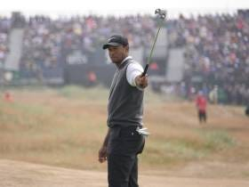 Tiger Woods Is BUZZING On This Beautiful Saturday At Carnoustie